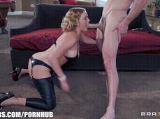 Krissy Lynn intense blowjob