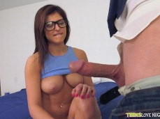 Leah Gotti and a huge cock
