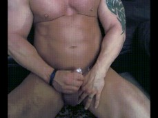 Straight Bodybuilder cums 2031 3