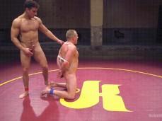 Muscle Hunk Jacob Durham wrestles naked 0048 3