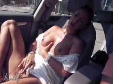 Amateur public car masturbation