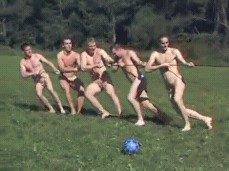 Naked nude tug of war 8
